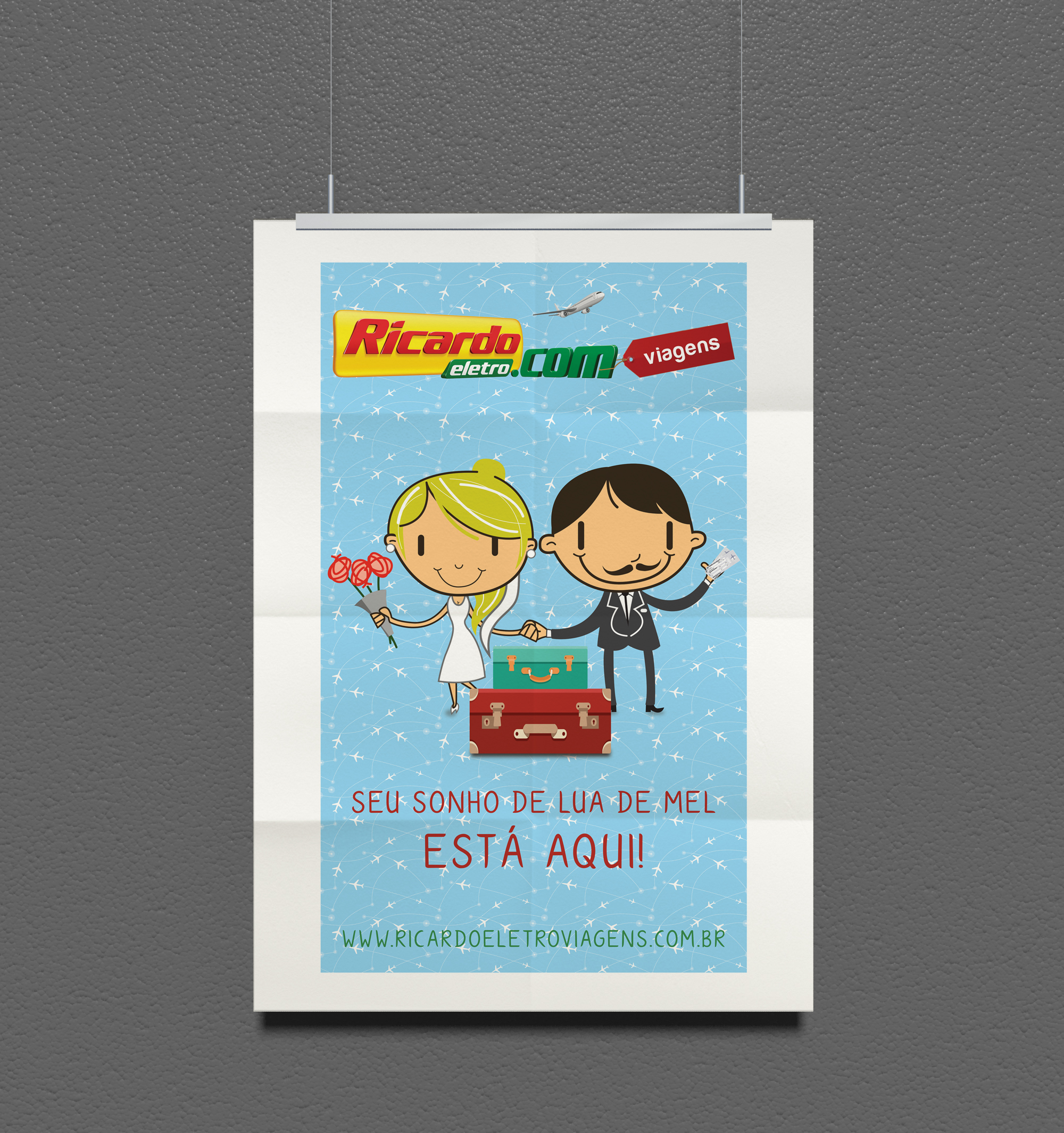 Flyer: Lista de Casamento + Ricardo Viagens