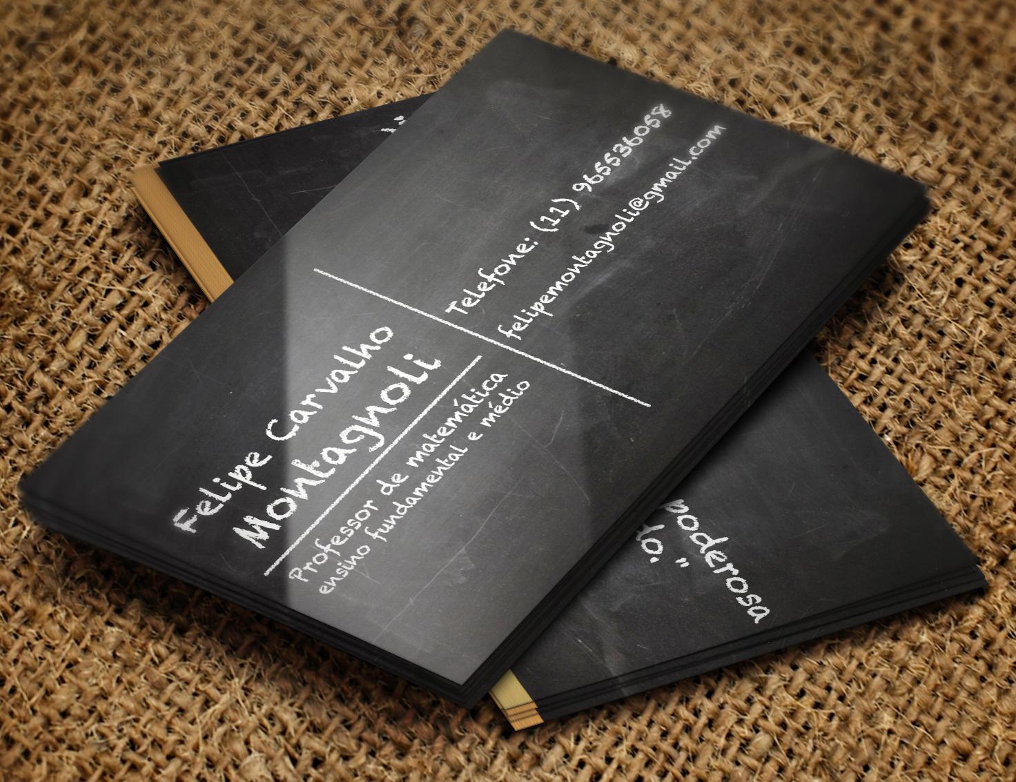 Cartão de Visitas: Felipe Carvalho Montagnoli